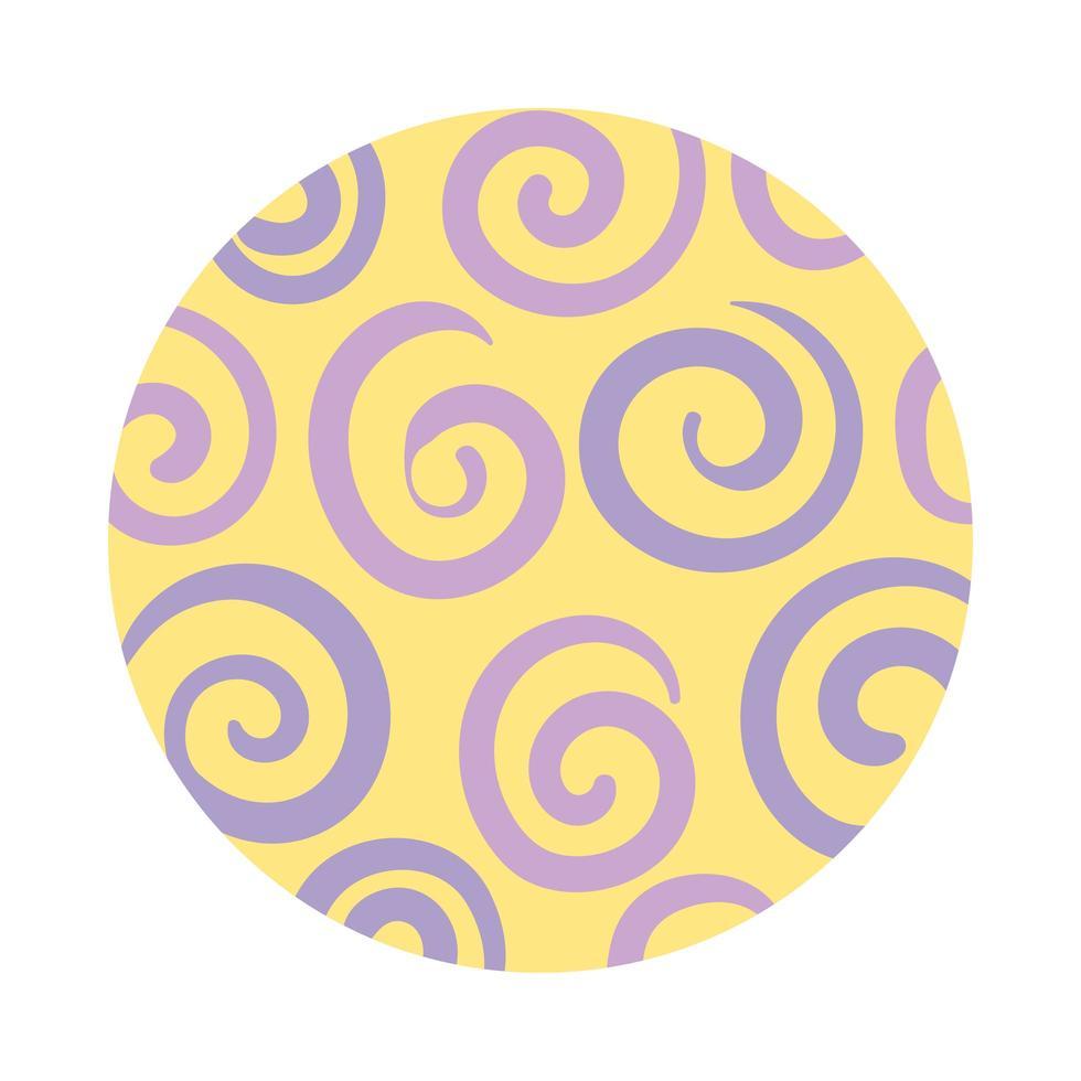 spiralförmiger organischer Musterblockstil vektor