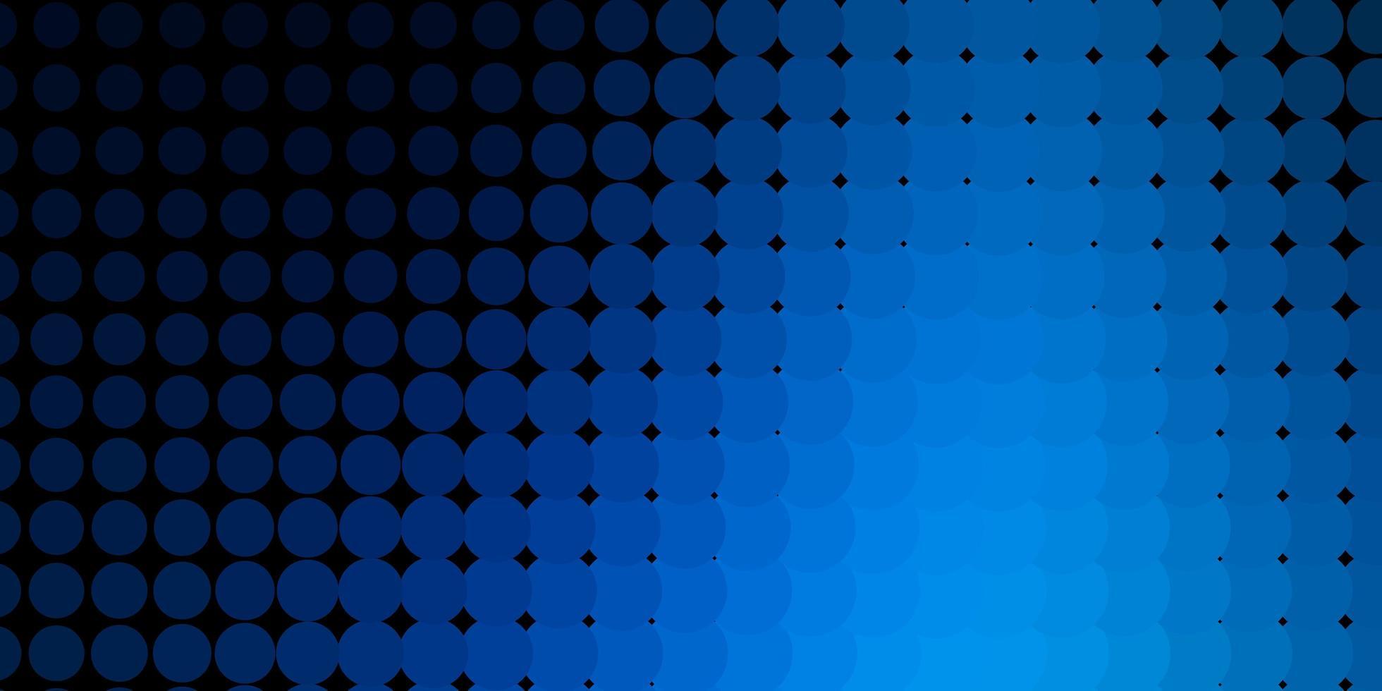 hellblaues Vektormuster mit Kugeln. vektor
