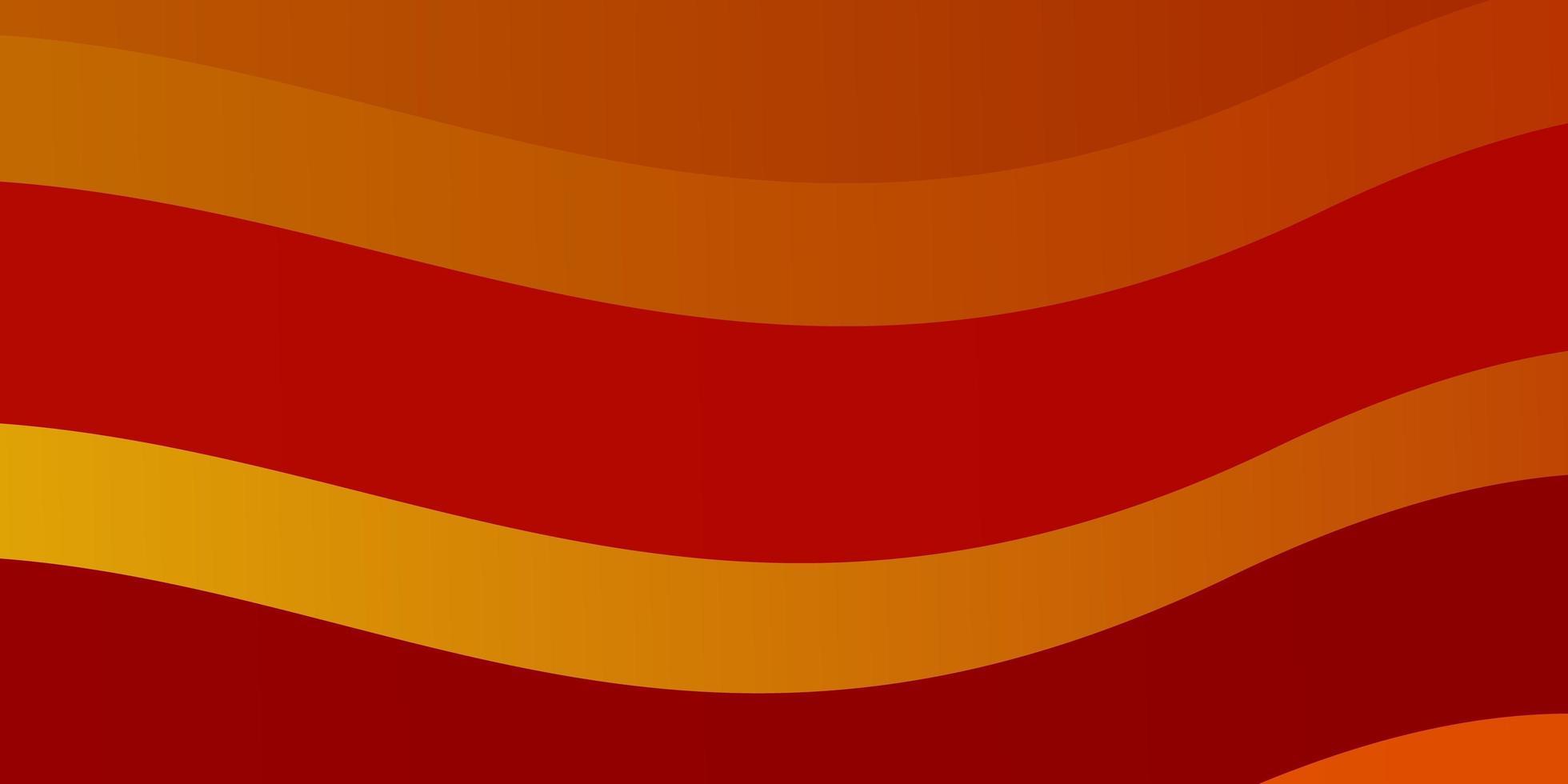 ljus orange vektor bakgrund med böjda linjer.