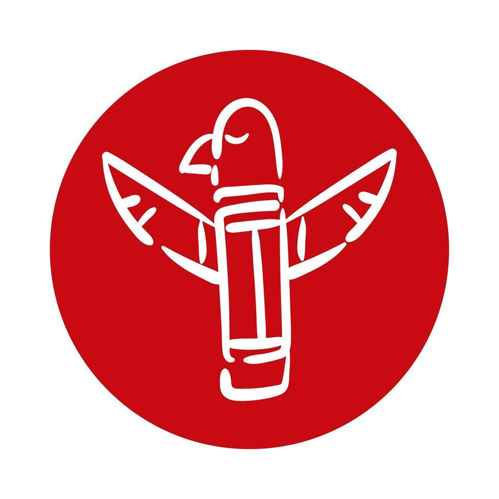 kanadische Adler Totempfahl Statue vektor
