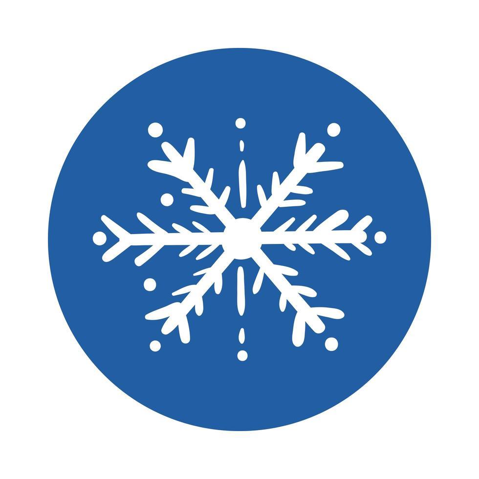 Schneeflocke Eisblock Stilikone vektor
