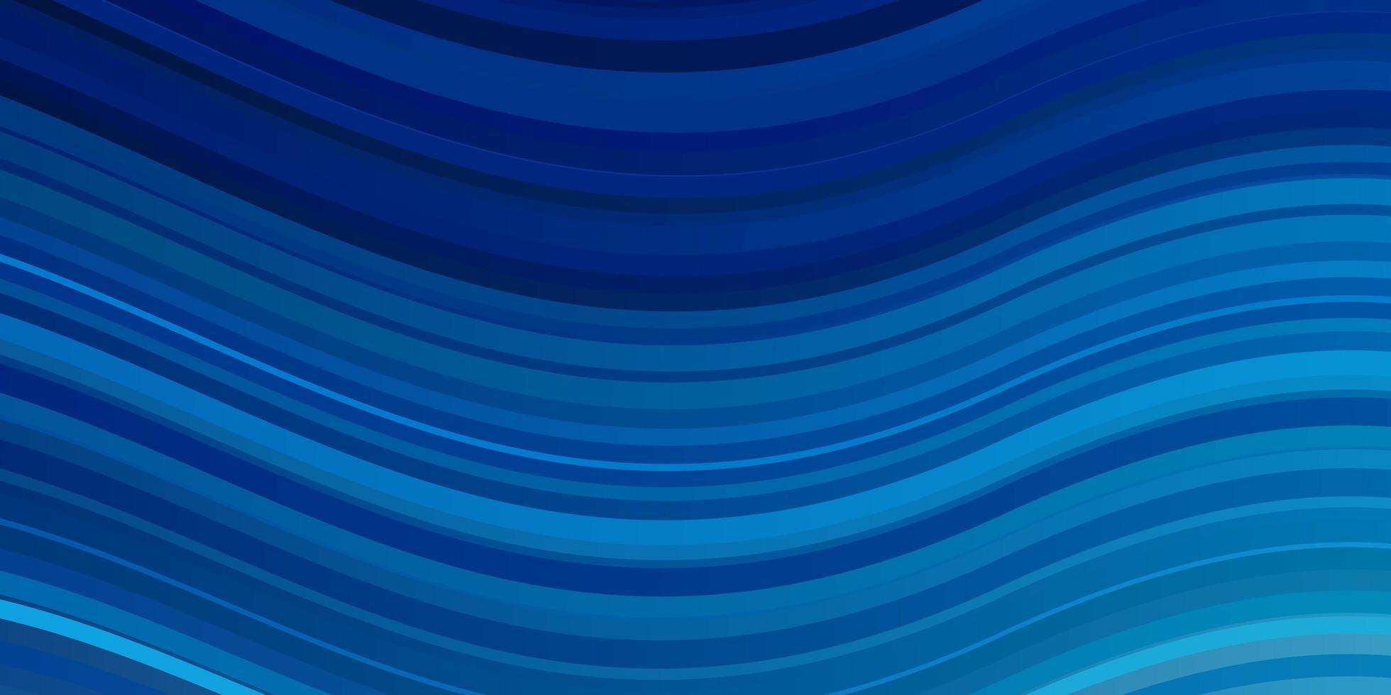 hellblaues Vektormuster mit gekrümmten Linien. vektor