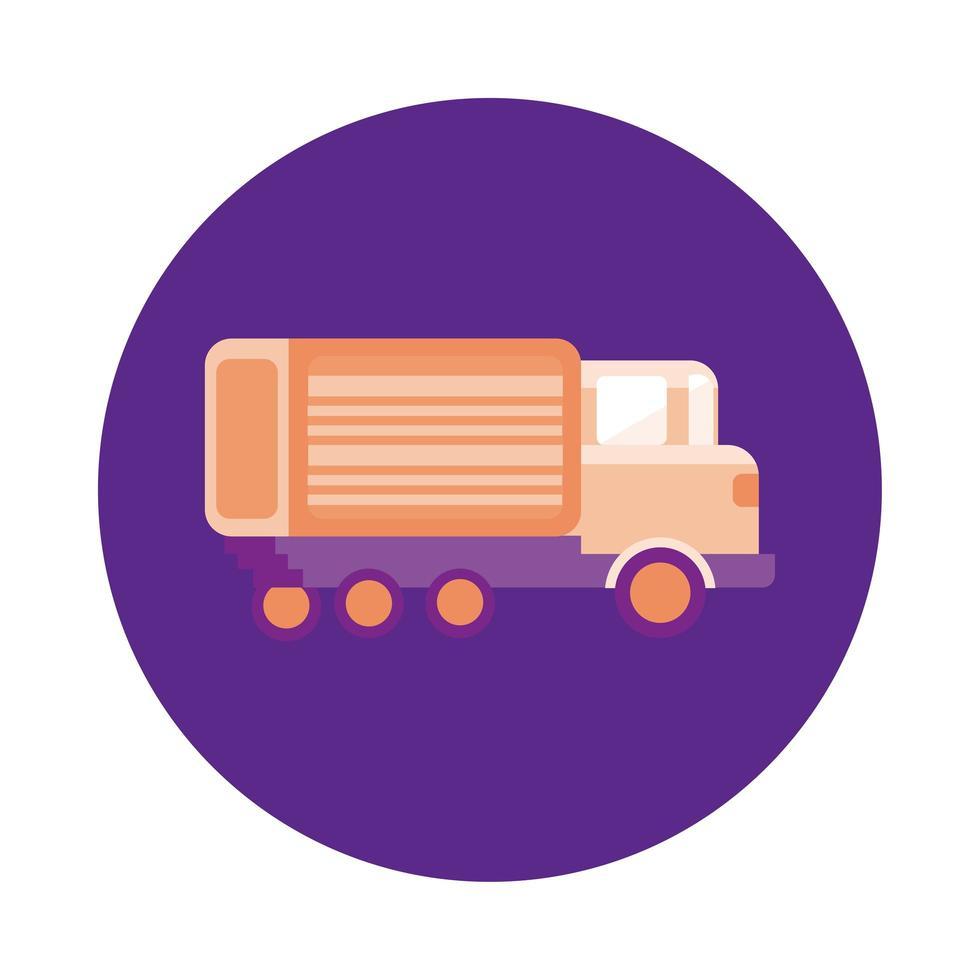lastbil leverans service block stil vektor