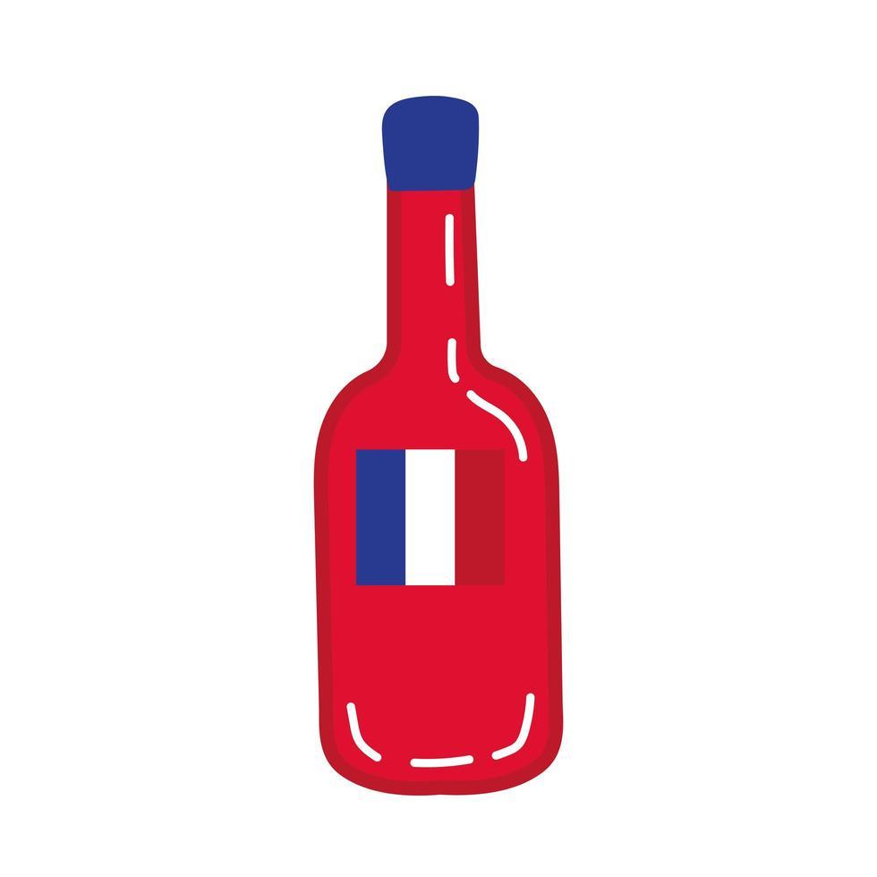 Weinflasche Hand zeichnen Stilikone vektor