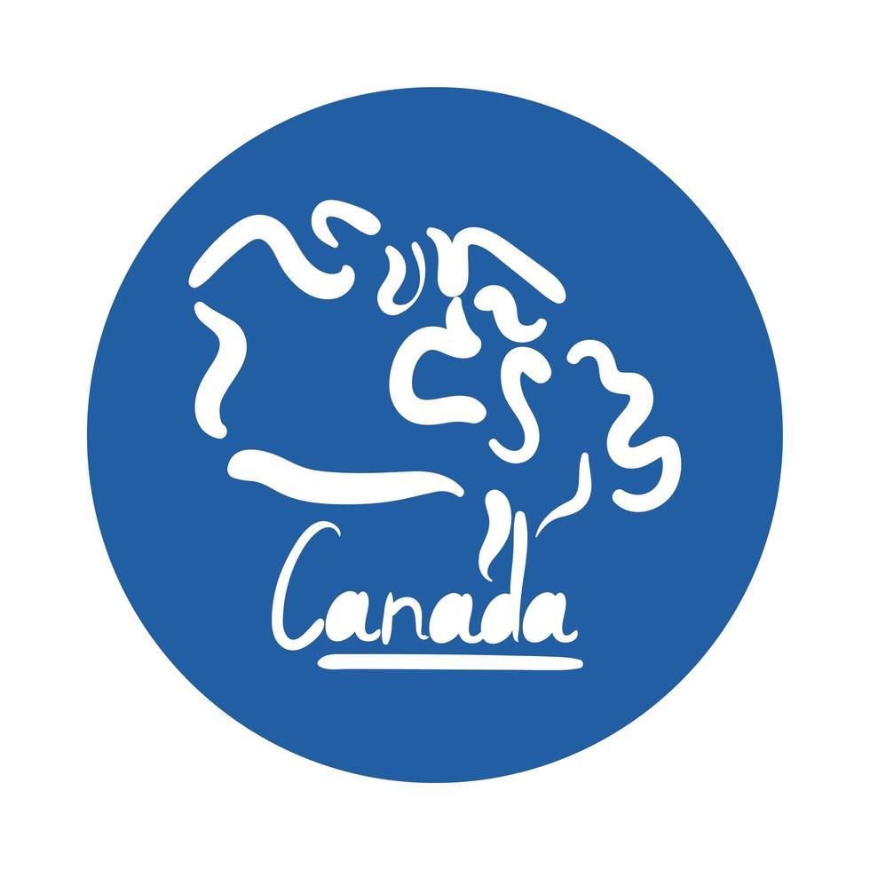 kanadischer Wortbeschriftungsblockstil vektor