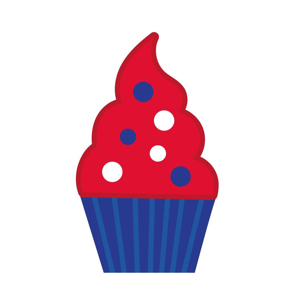 söt cupcake hand Rita stilikon vektor