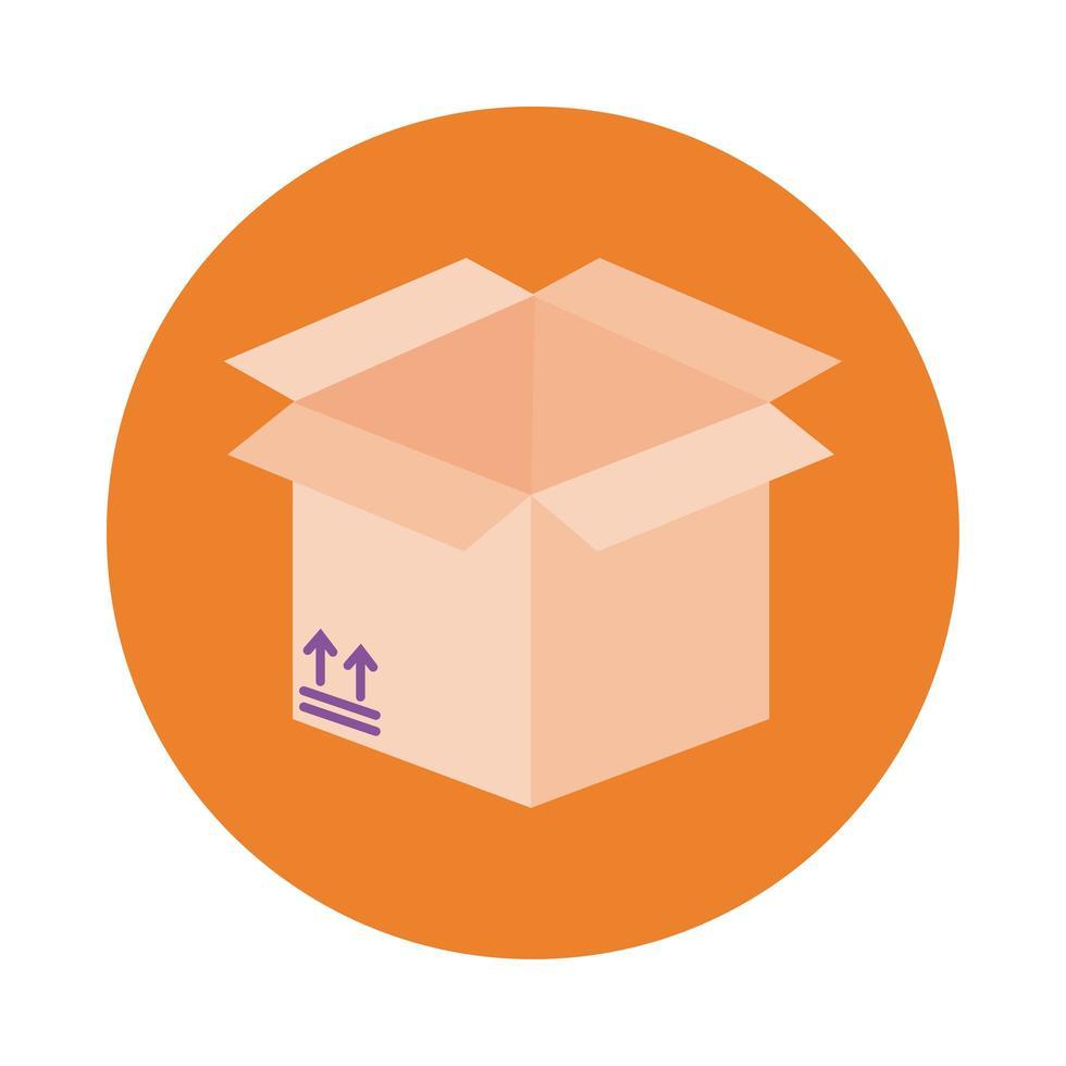 rutan och pilen leverans tjänster block stil vektor
