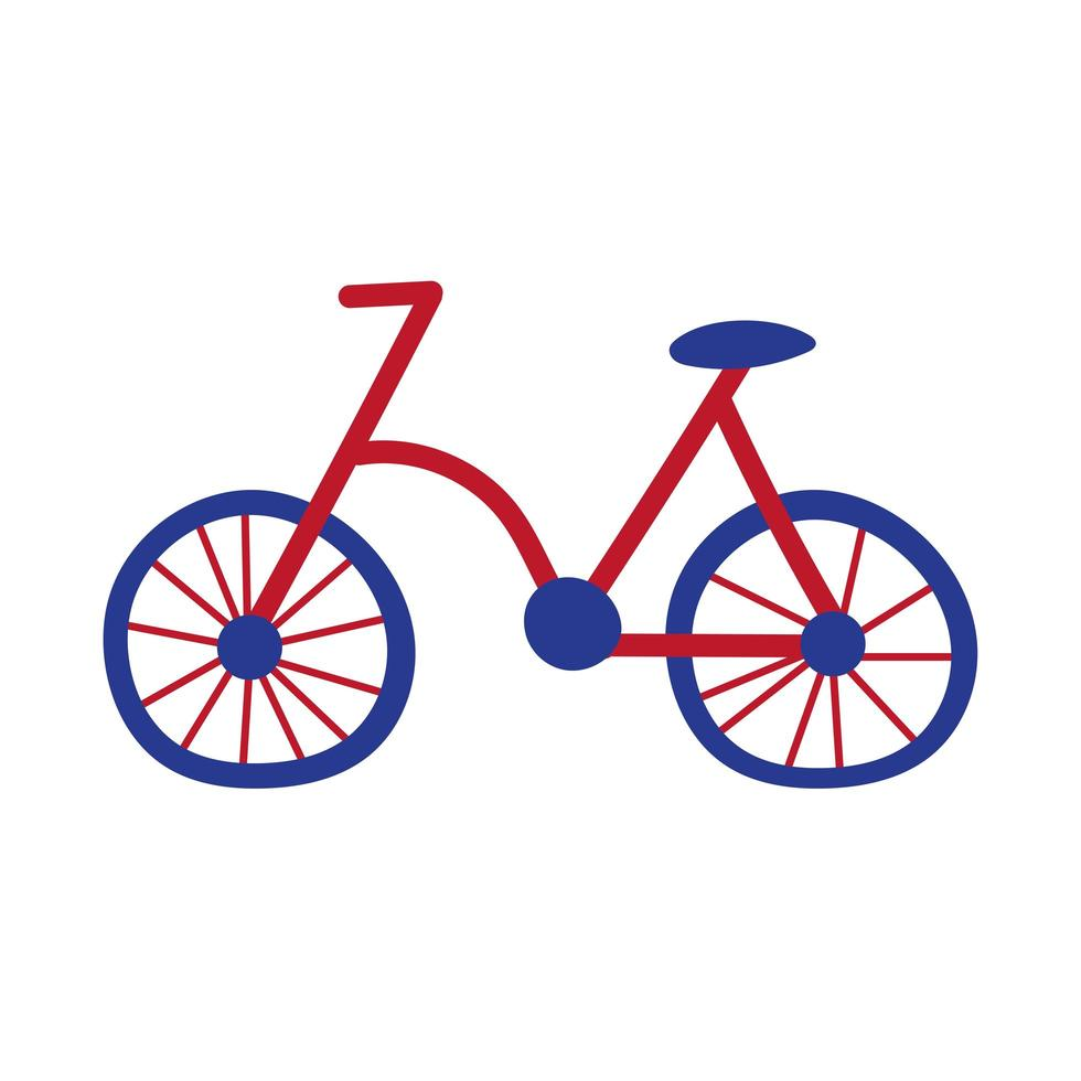Fahrrad alte Hand zeichnen Stilikone vektor