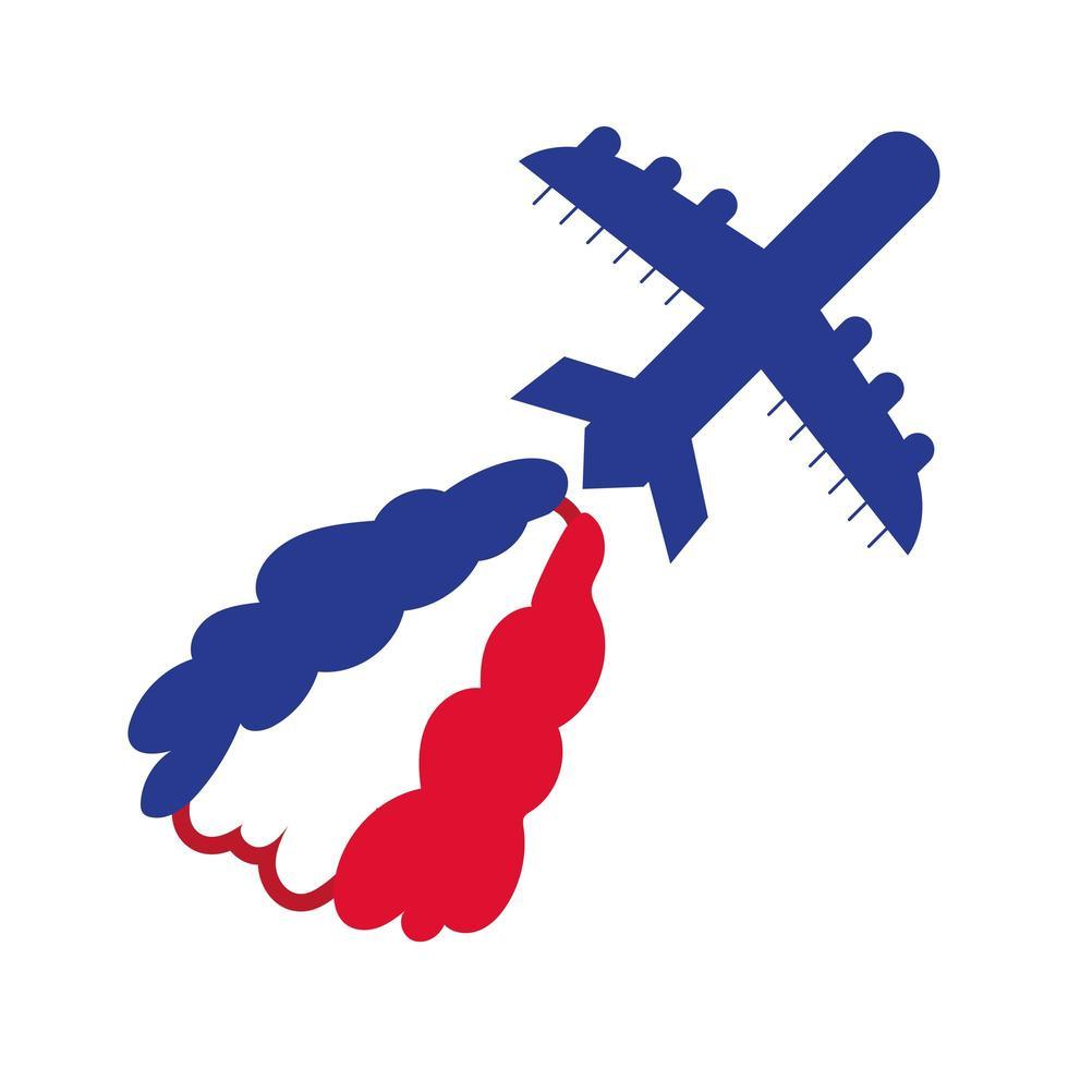 flygplan flygande hand Rita stilikon vektor