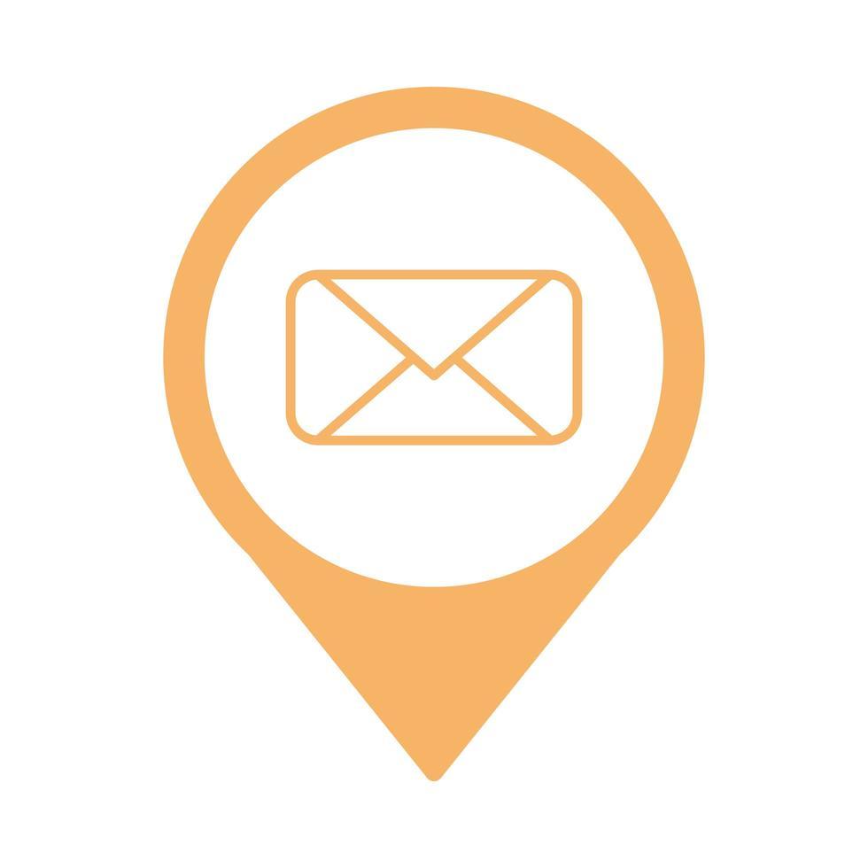 kuvert mail skicka isolerad ikon vektor