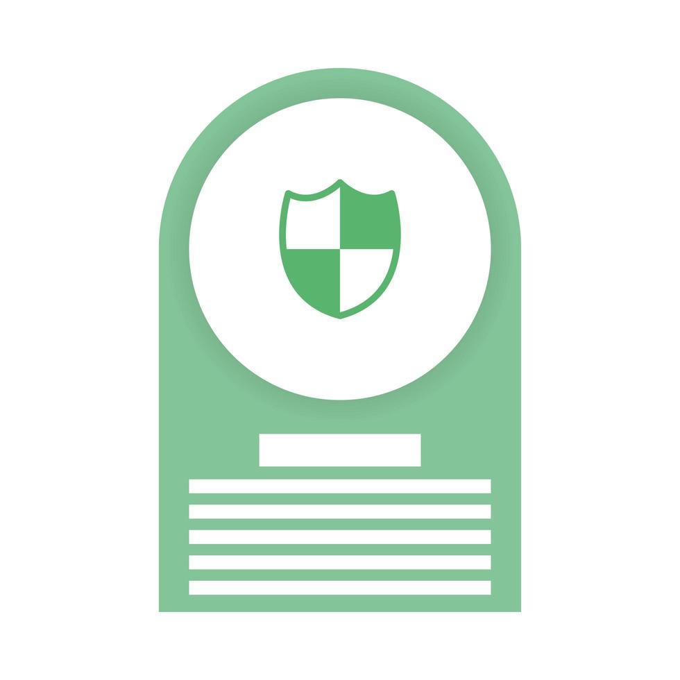 säkerhetssköld isolerade ikon vektor