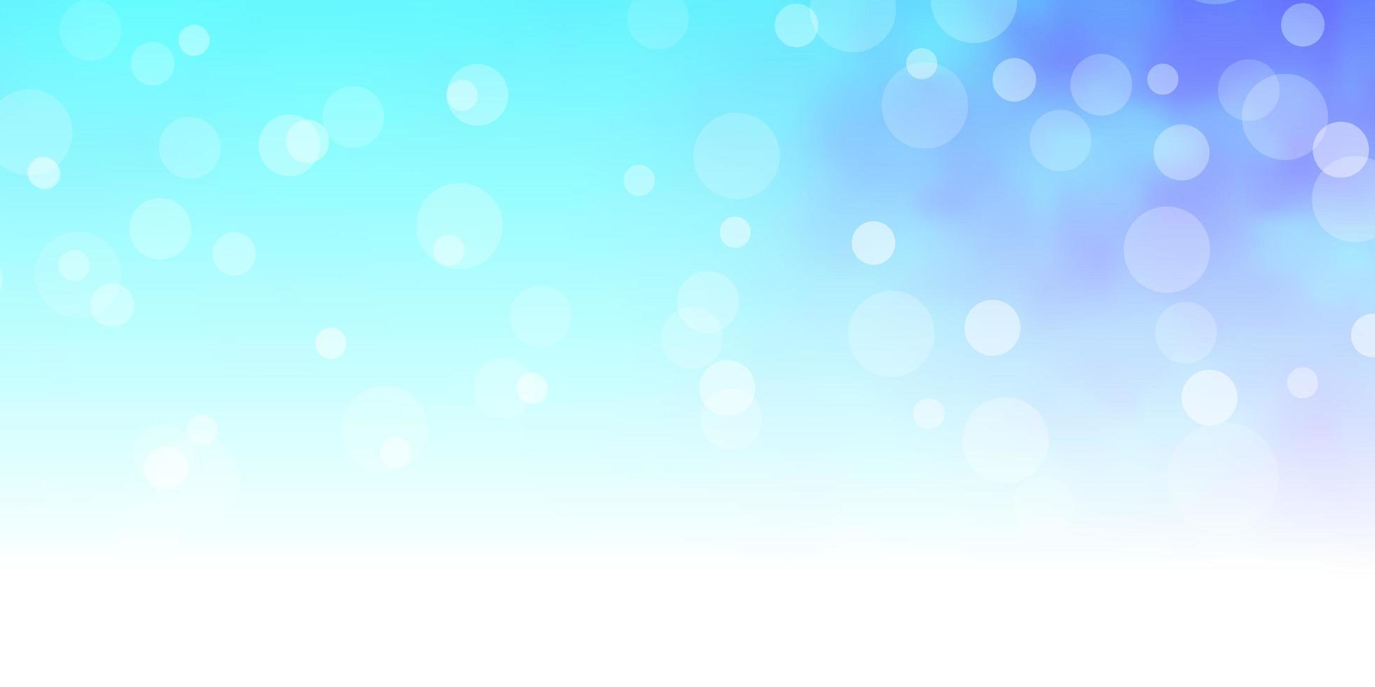 ljusblå vektorlayout med cirklar vektor