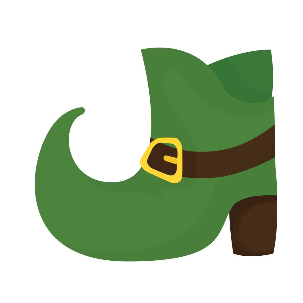 Saint Patrick's Day Elf Schuh Vektor Design