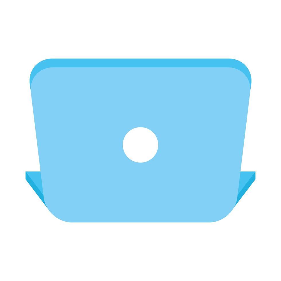 Laptop-Computer Gerät isoliert Symbol vektor