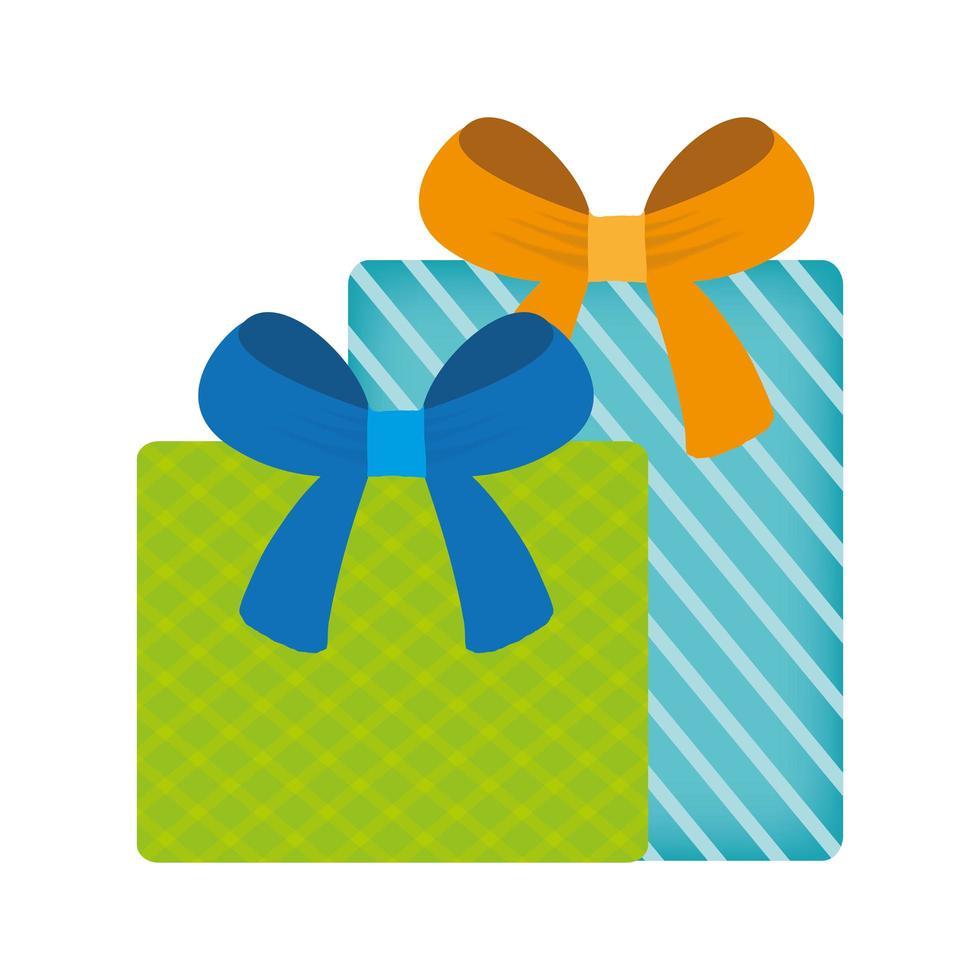 Geschenke mit Bowties Vektor-Design vektor