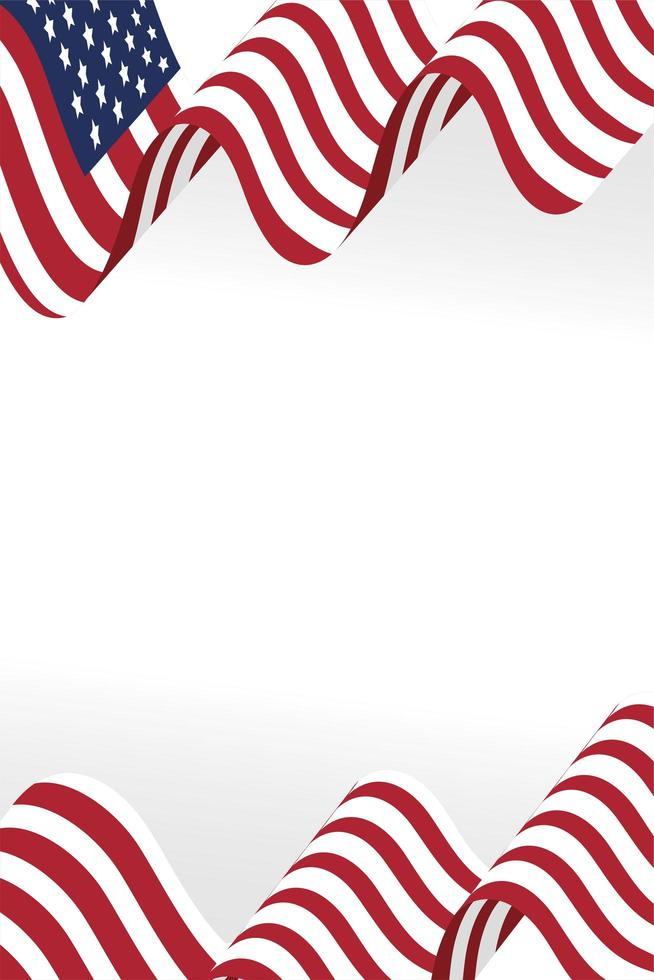 usa flagga ikon vektor design