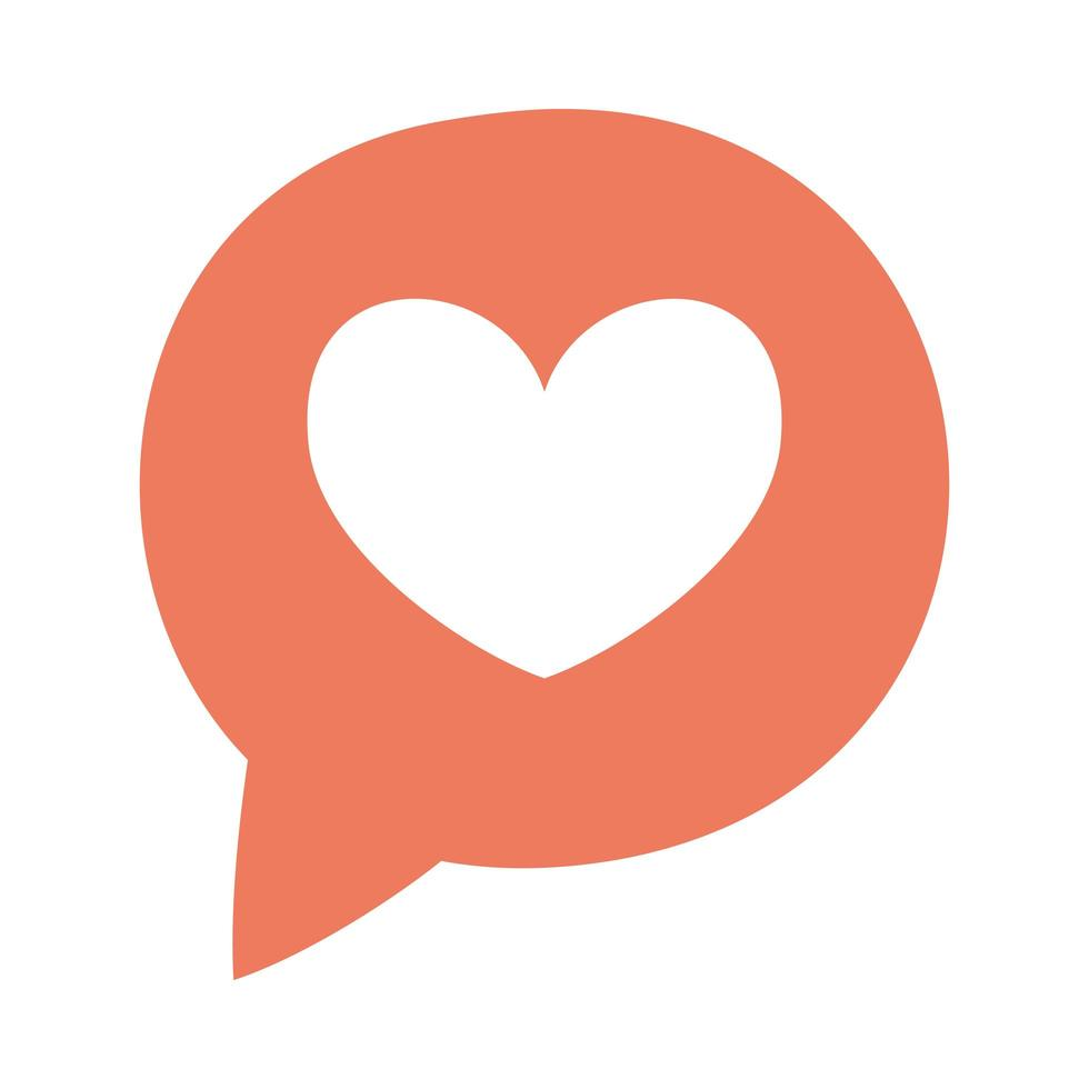 Sprechblase mit Herz Social Media vektor