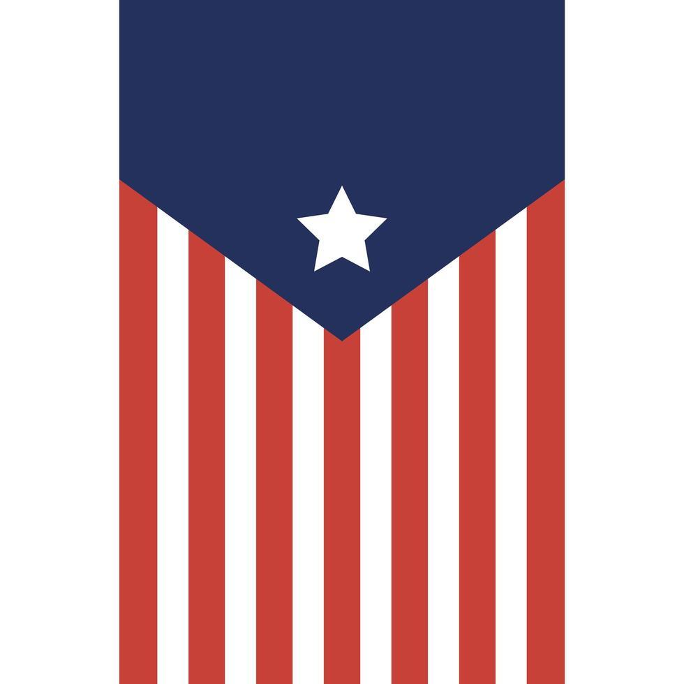 USA-Banner mit Linien und Sternvektorentwurf vektor