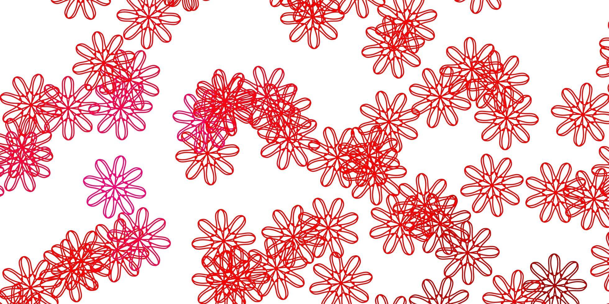 ljusrosa, röd vektor naturlig bakgrund med blommor.