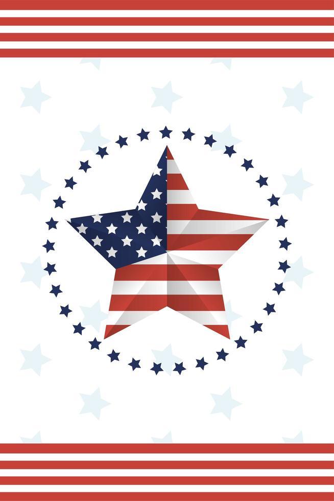 USA Flagge Stern Vektor-Design vektor