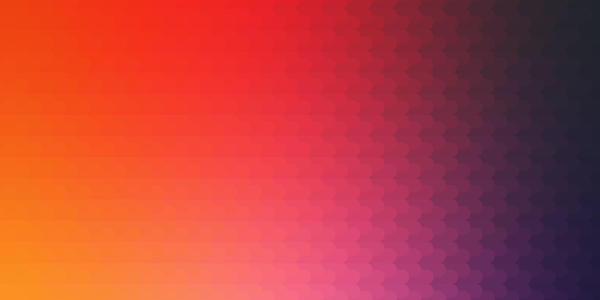 ljusrosa, gul vektor bakgrund med linjer.