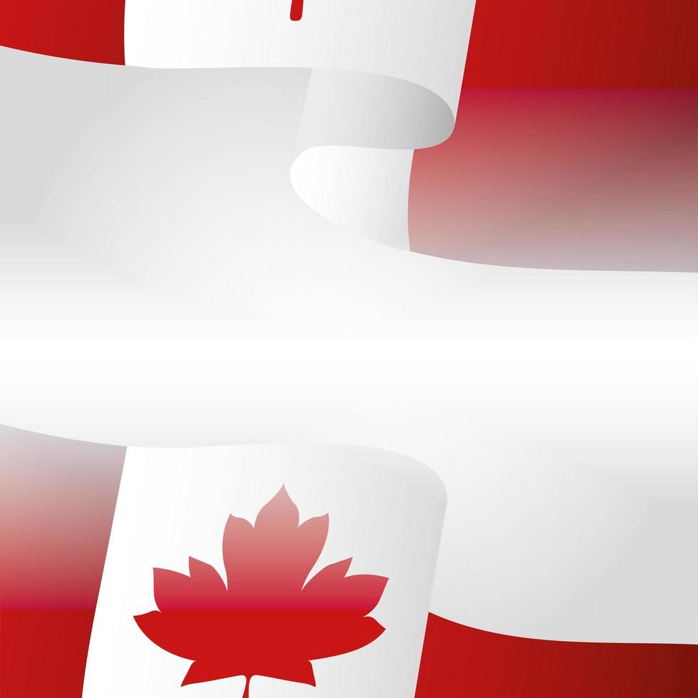kanadische Flagge für glücklichen Kanada-Tagesvektorentwurf vektor