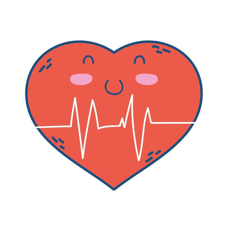 Herz Cardio Zeichen isoliert Symbol vektor