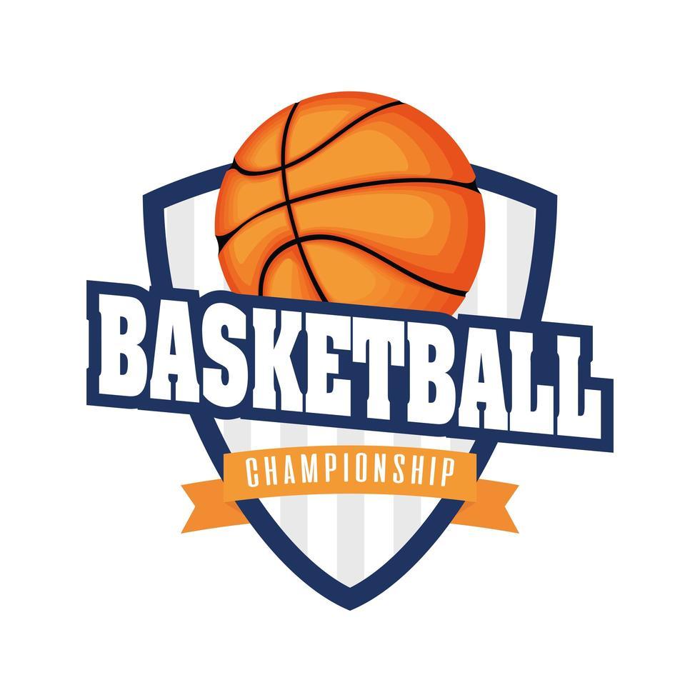 Basketballturnier Schild mit Basketball vektor