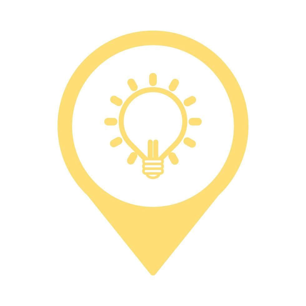 Glühbirne Idee isoliert Symbol vektor