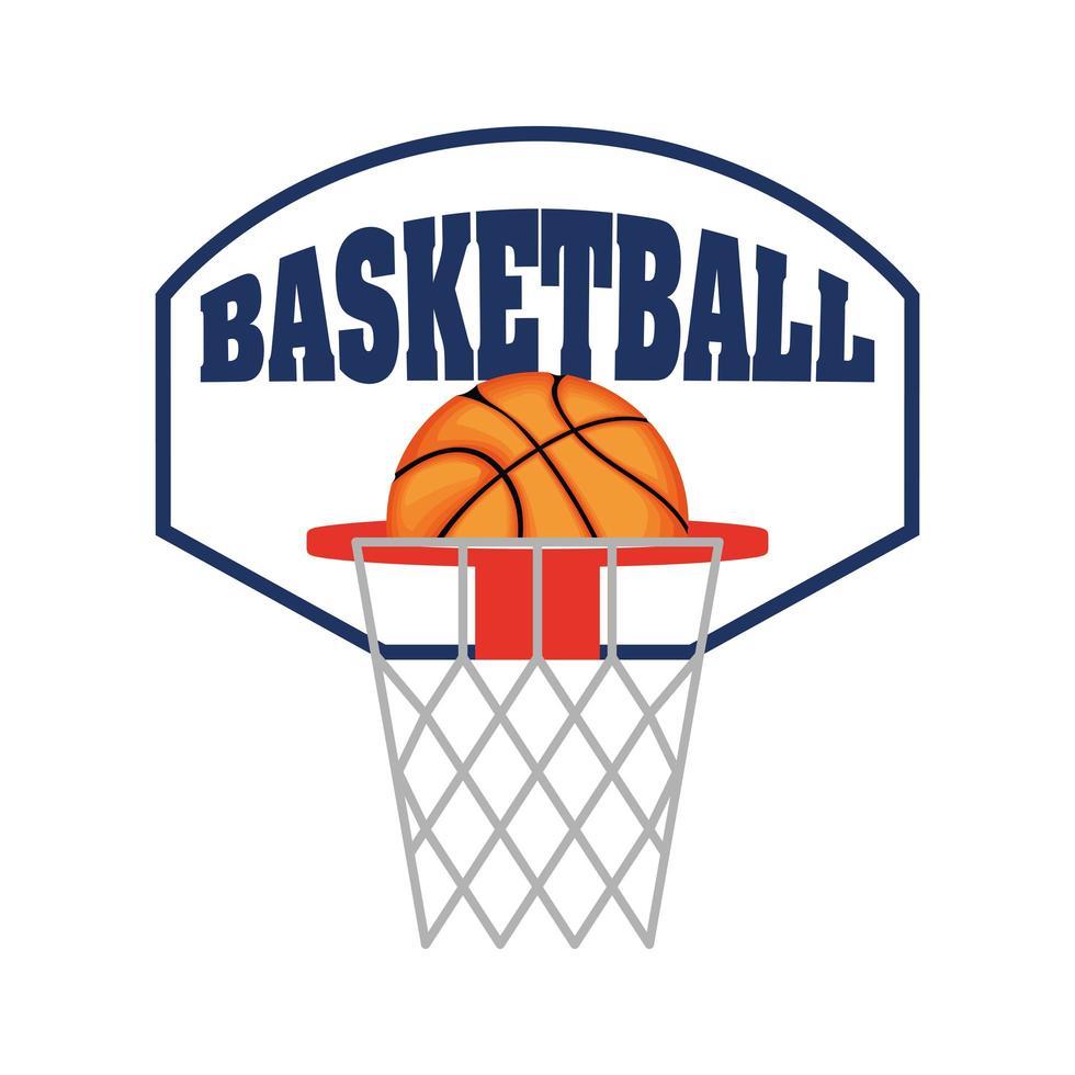Basketball- und Backboard-Symbol vektor