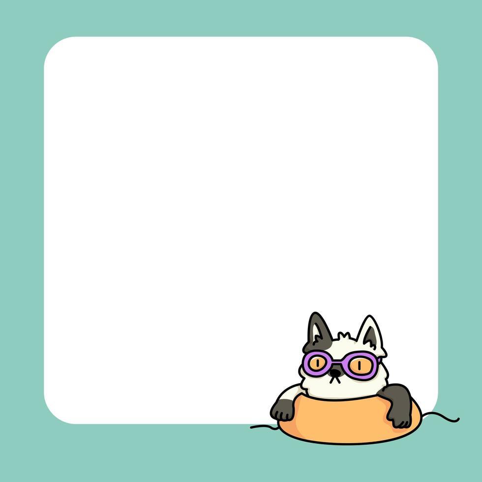 Notizblock niedliche Katze entwirft, um tägliche Notizen aufzulisten vektor
