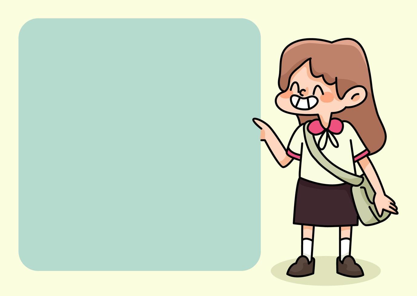 Notizblock niedliche Schülerentwürfe zurück zur Schule, um tägliche Notizen aufzulisten vektor