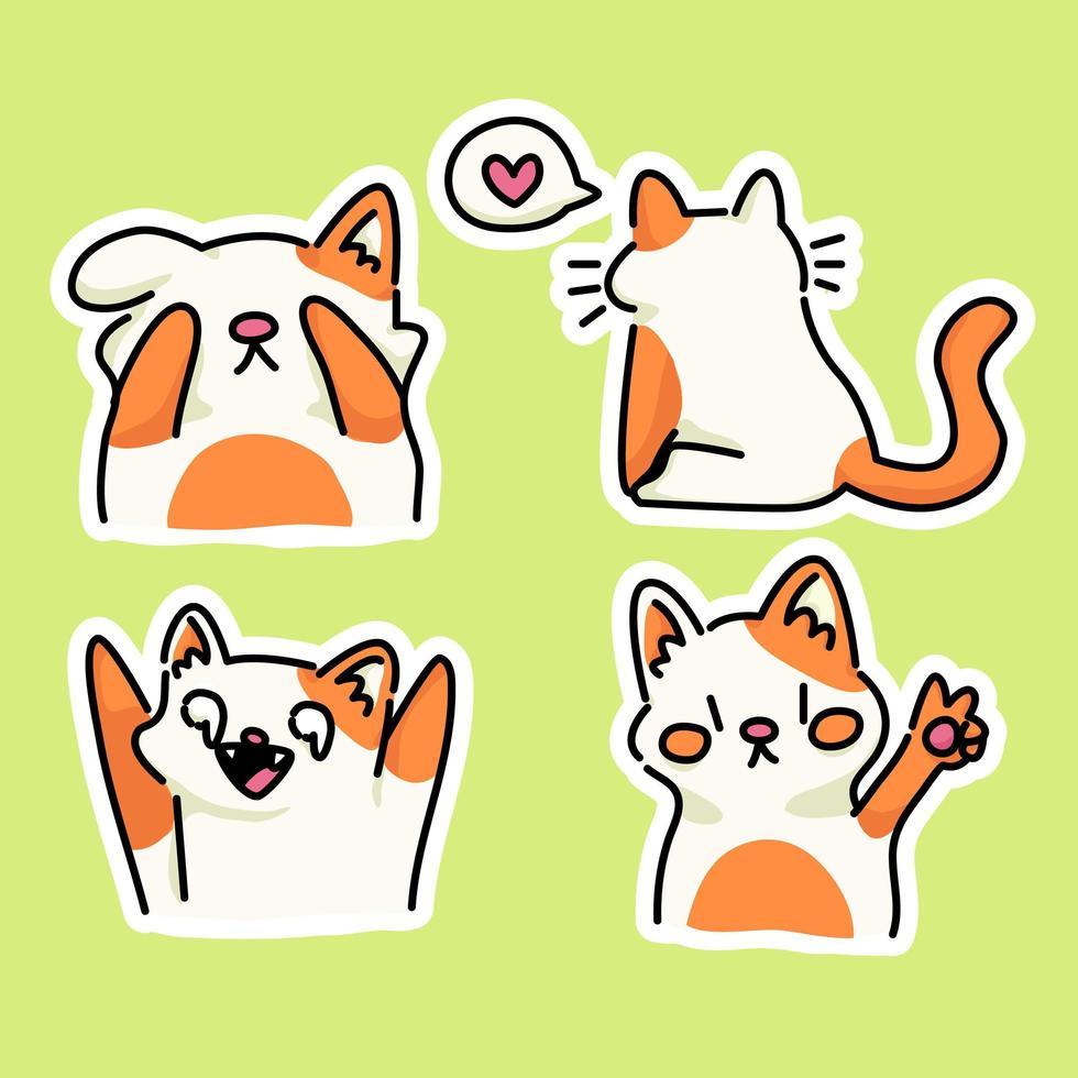 Katze Kätzchen glücklich zurück zu Schule Studie Zeichnung Illustration vektor