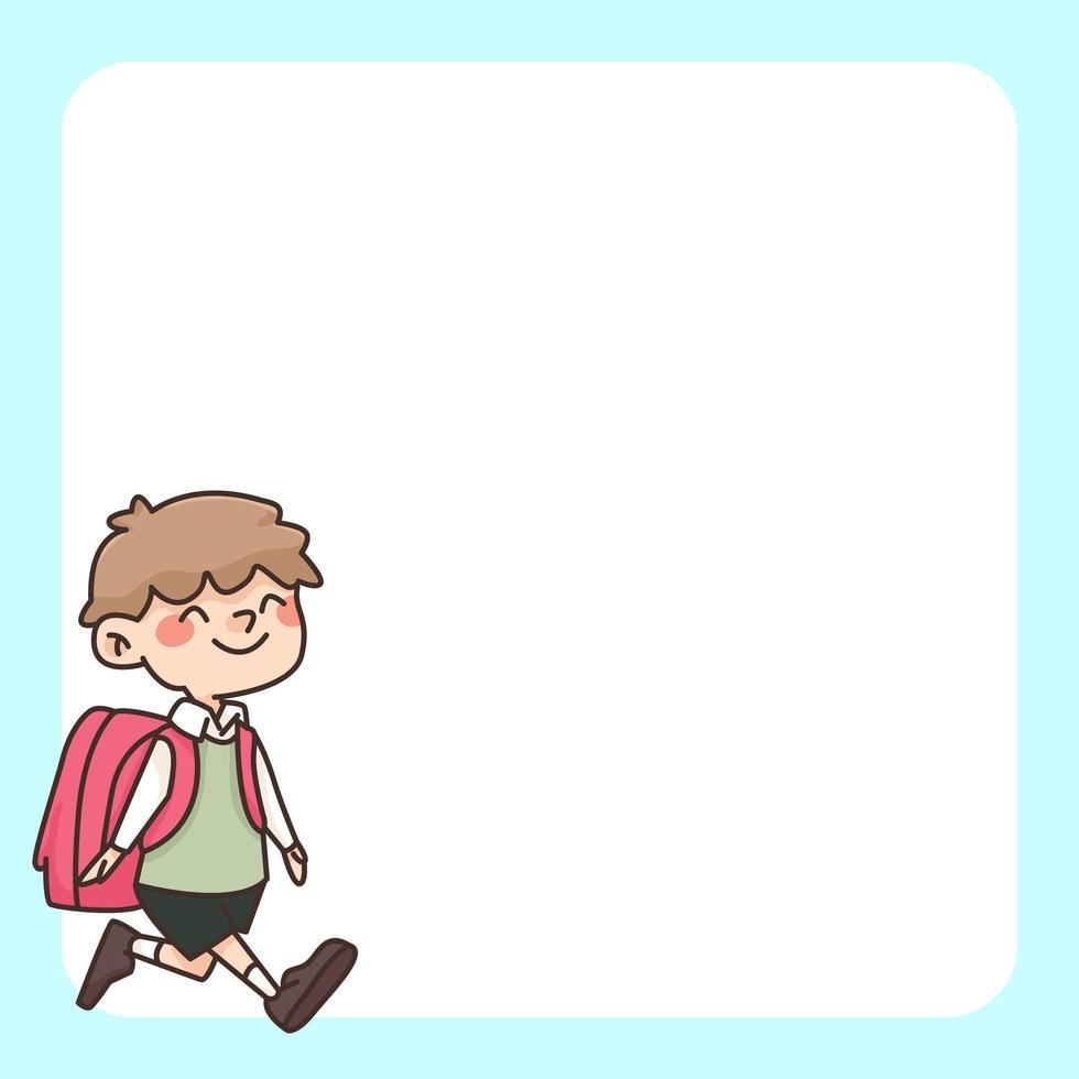 zurück zur Schule Notizblock niedliche Karikaturillustration vektor