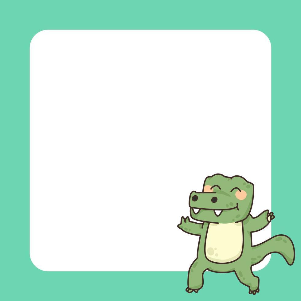 niedliche Karikaturillustration des Krokodilnotizblocks vektor