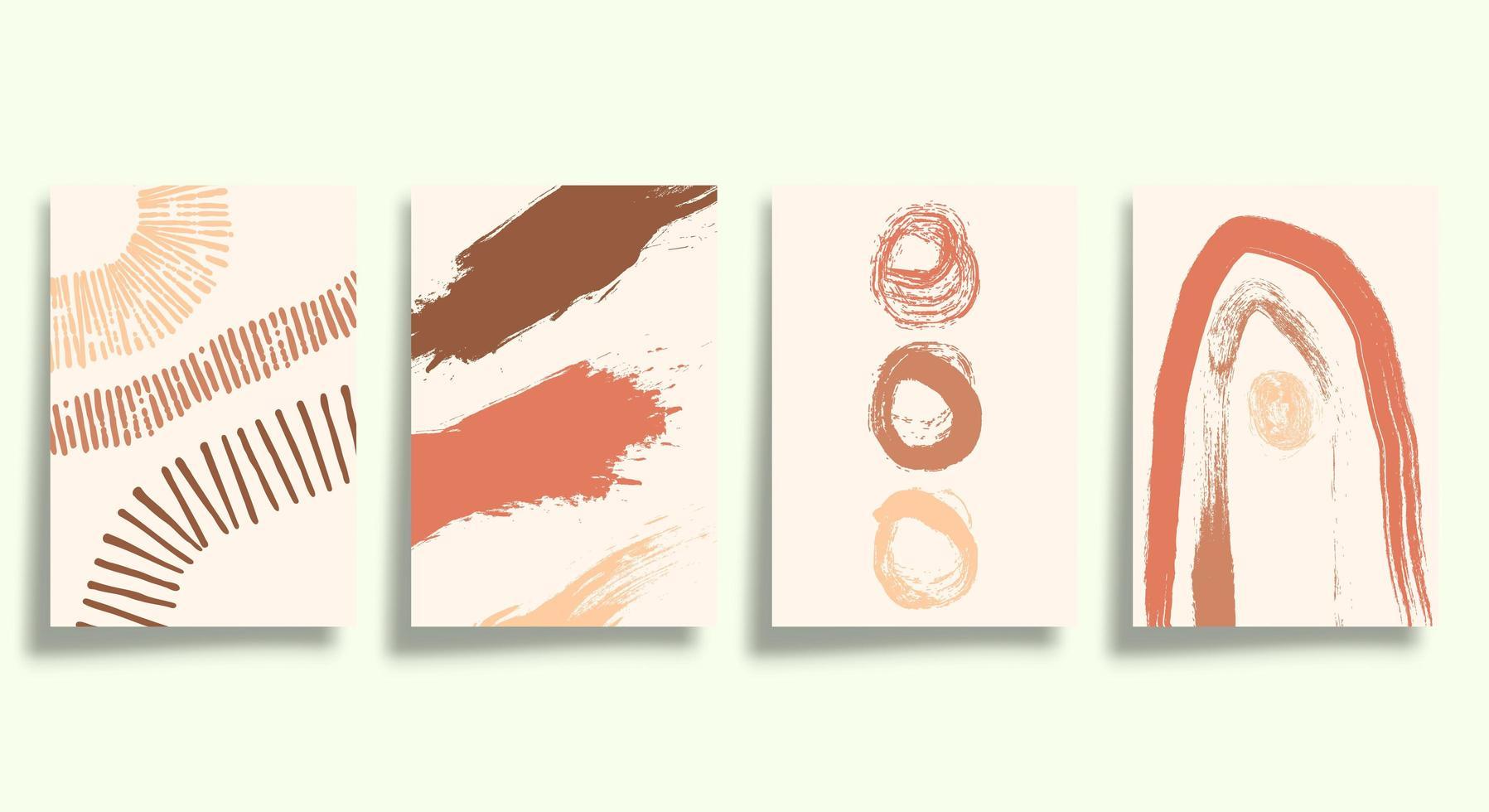 Satz abstrakter minimalistischer Typografie Satz vektor