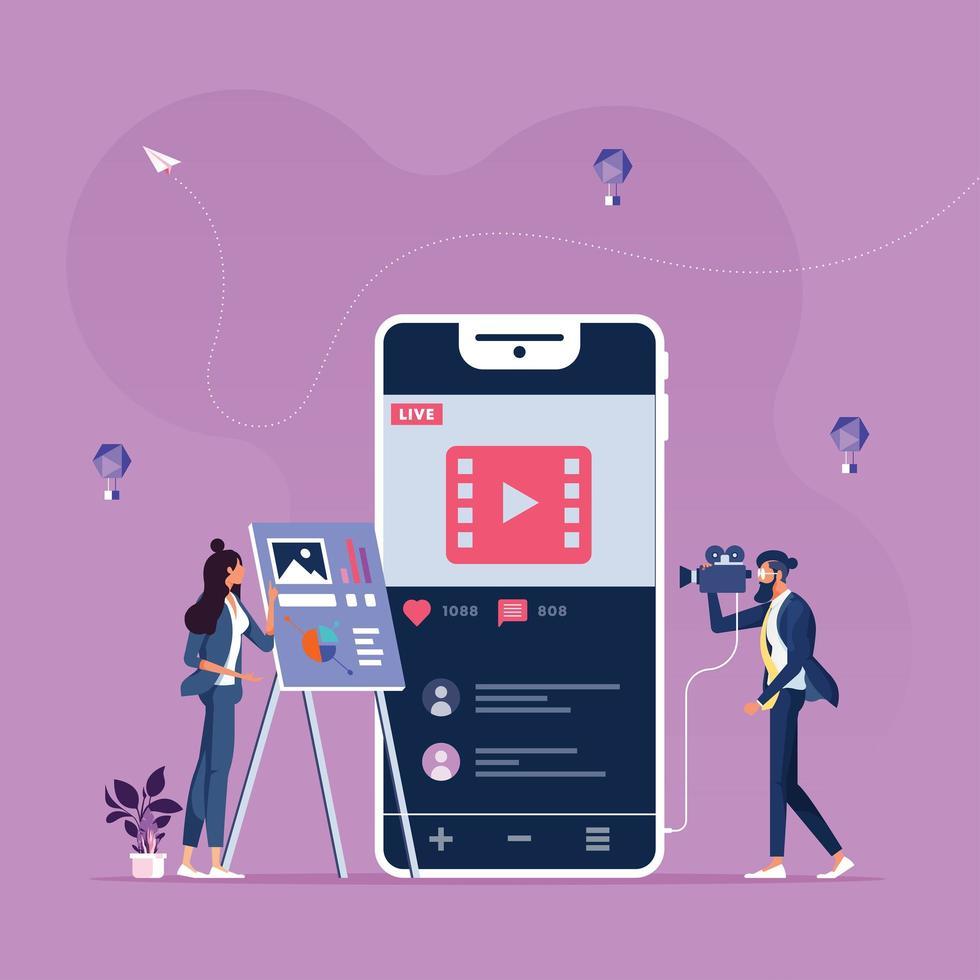 online marknadsföring innehåll-sociala medier och sociala nätverk koncept vektor