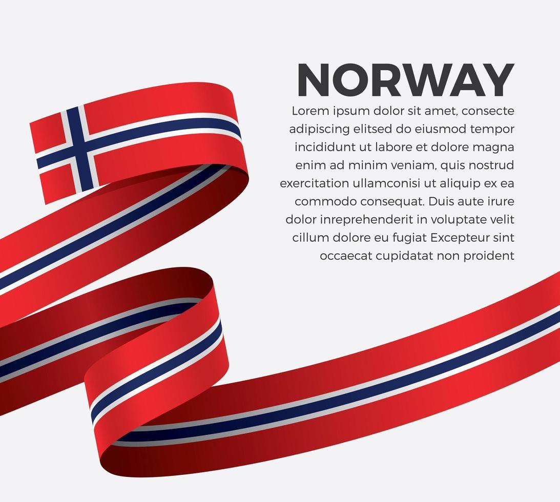 Norwegen abstraktes Wellenflaggenband vektor