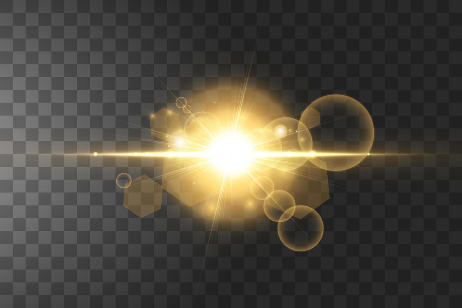 lysande gyllene stjärnor isolerad på svart bakgrund. vektor illustration.
