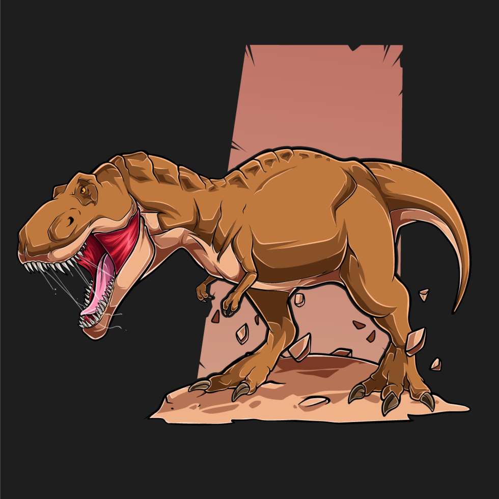 braun wütend Tyrannosaurus t Rex vektor