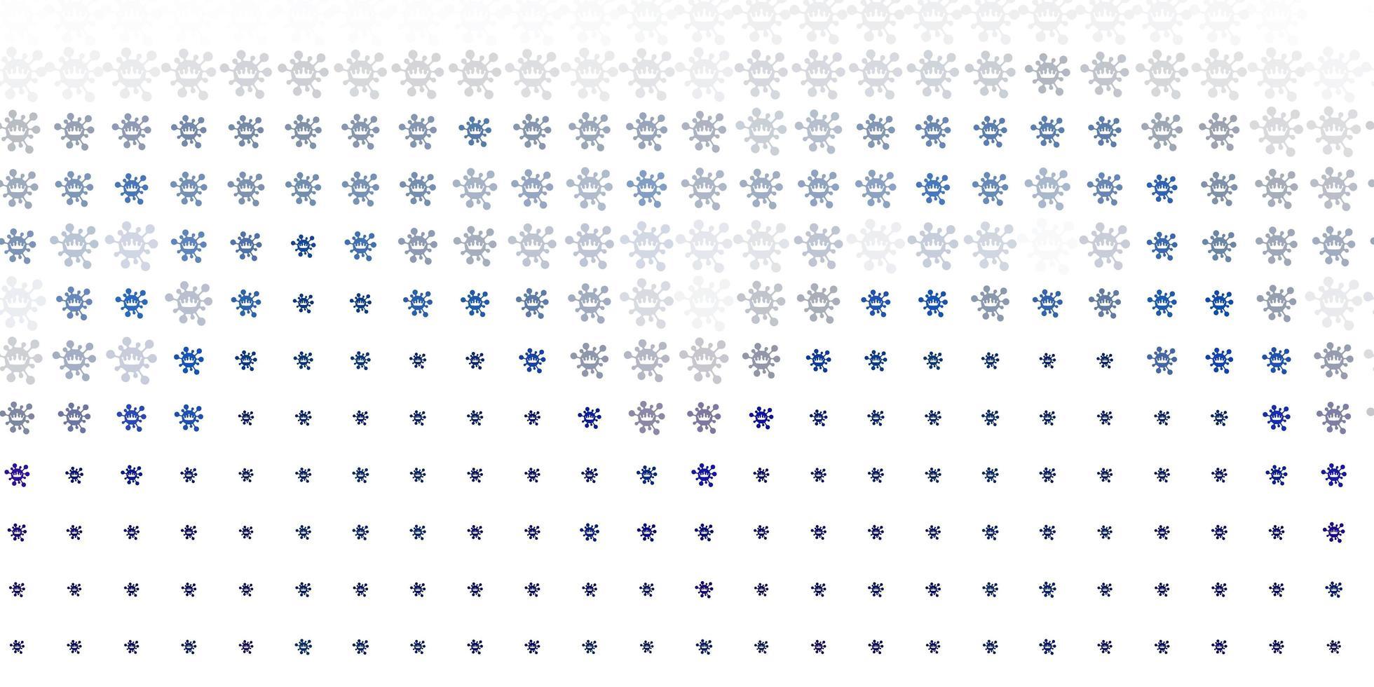 hellgrauer Vektorhintergrund mit covid-19 Symbolen. vektor