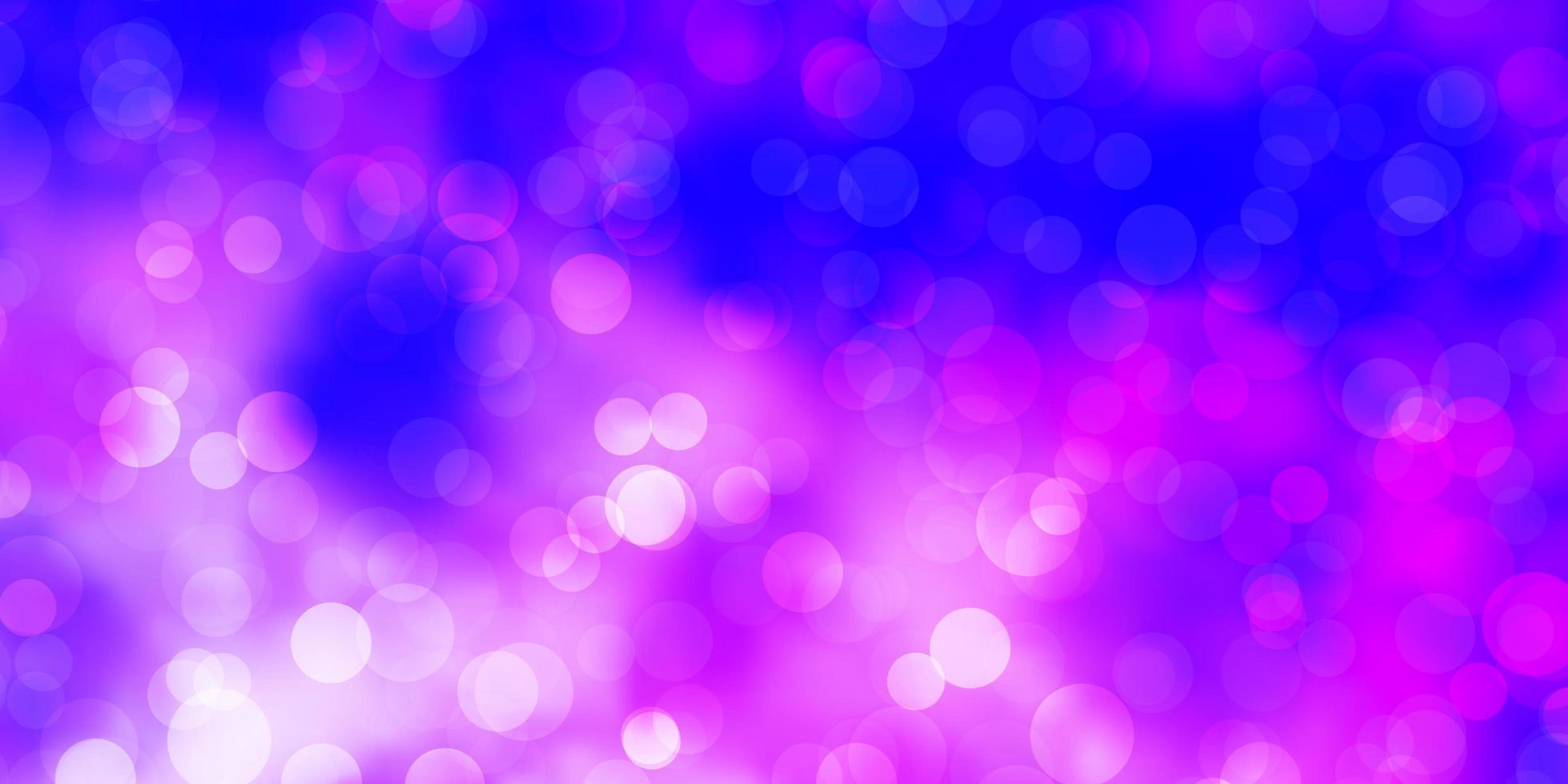 ljusrosa, blå vektorbakgrund med cirklar vektor