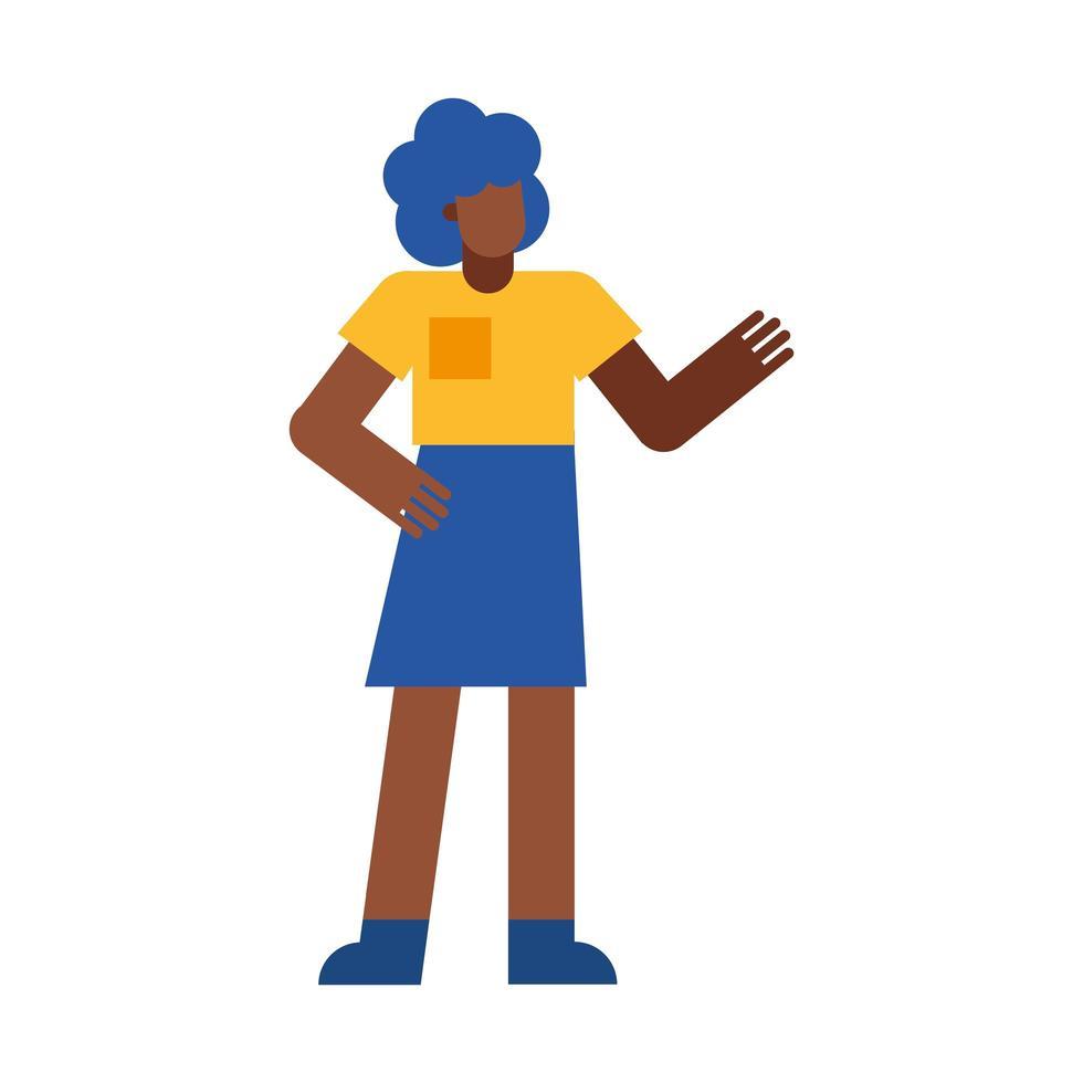 Karikaturvektorentwurf der schwarzen Frau vektor
