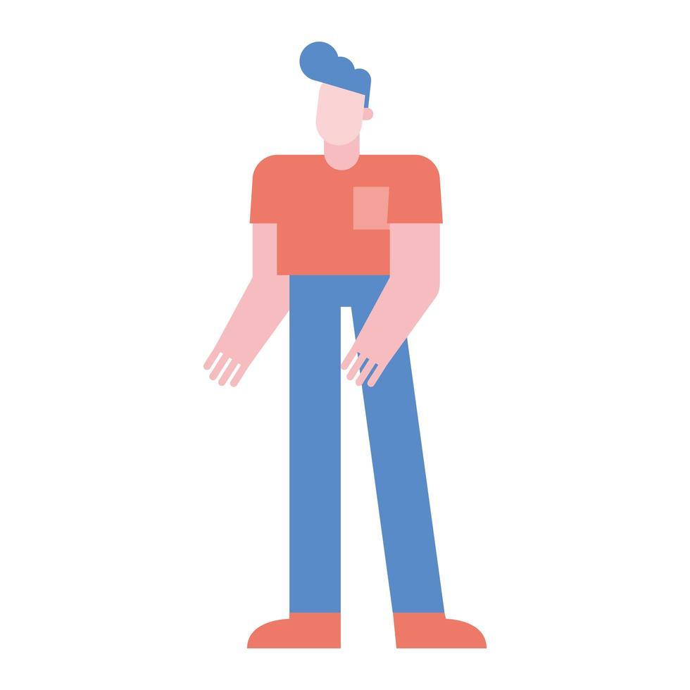 isolierter Mann Cartoon Vektor Design