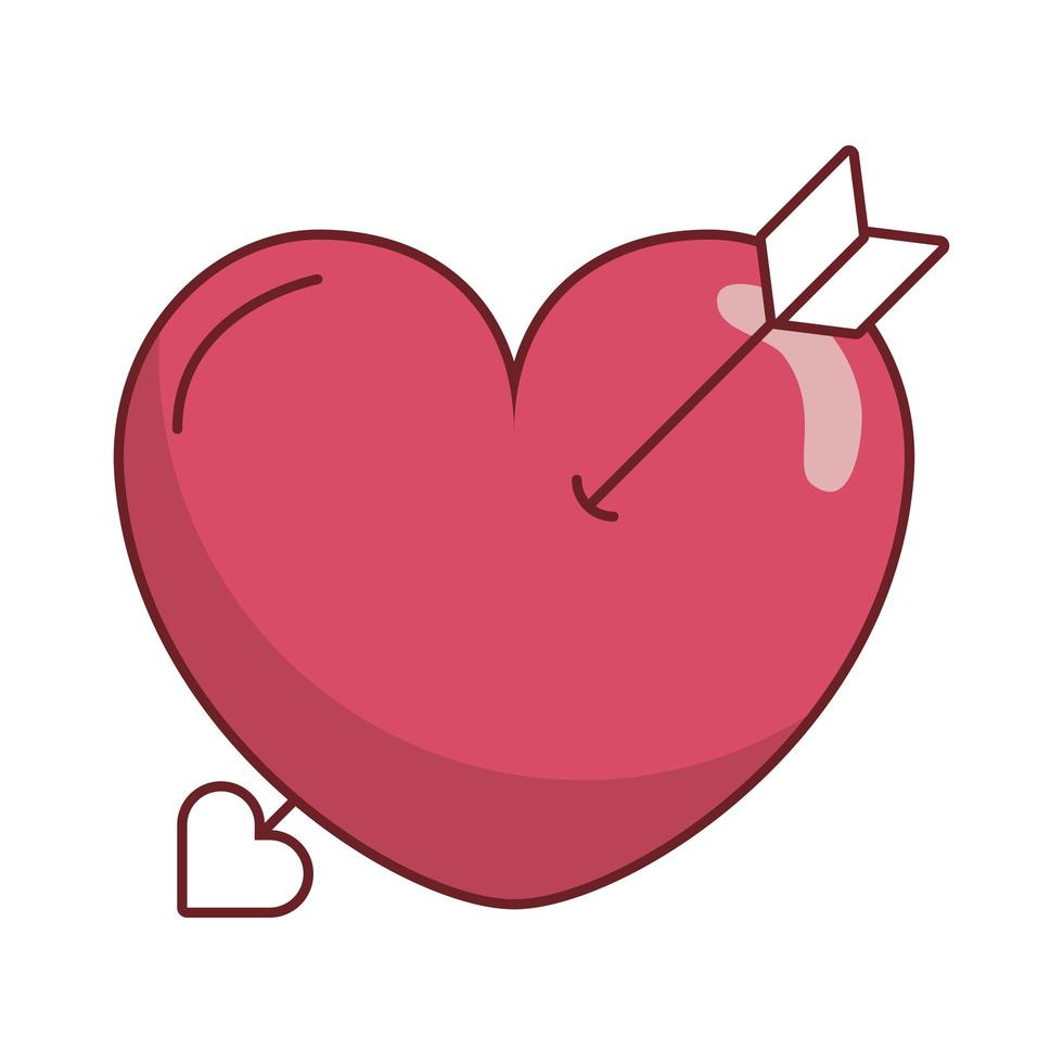 glücklicher Valentinstag Herzpfeil vektor