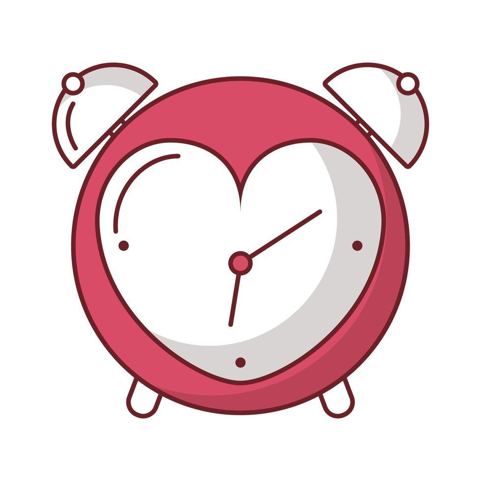 glücklicher Valentinstagwecker mit Herz vektor