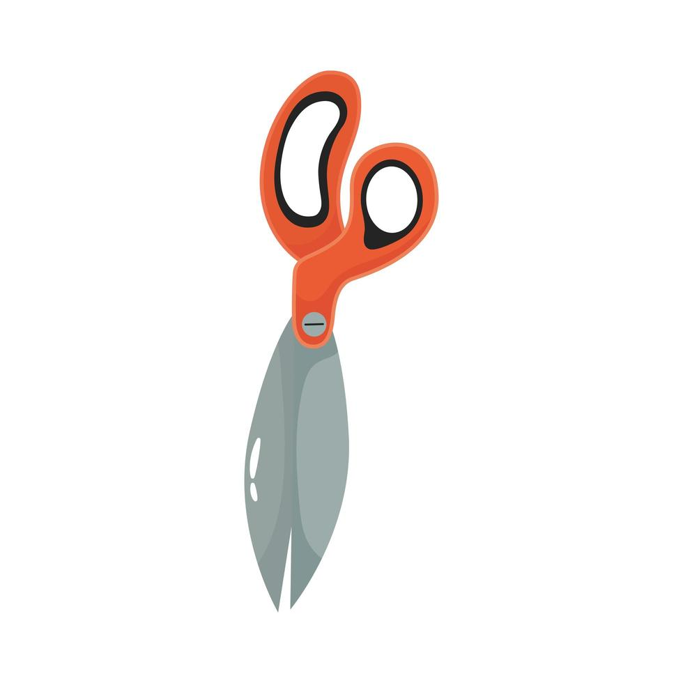 Schere Gartenwerkzeug flache Stilikone vektor
