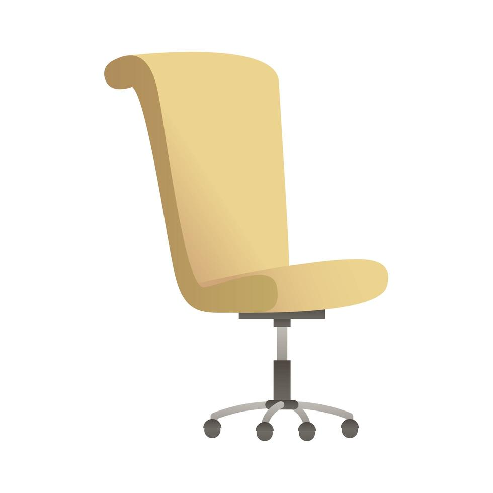 elegante Bürostuhlmöbel isolierten Symbol Vektor-Illustration Design vektor