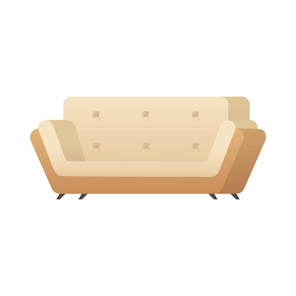 Doppelte Sofa isolierte Ikone Vektor-Illustration Design vektor