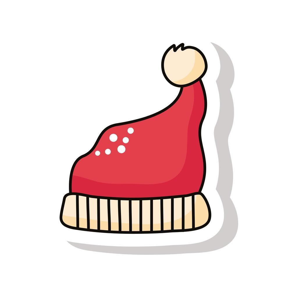 god jul santa hatt klistermärke vektor
